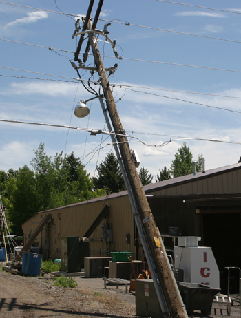 Truck pulls down power lines, cuts off Meeker power