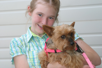 Caitlin Ducey of Rangely showed her dog during the Rio Blanco County Fair.