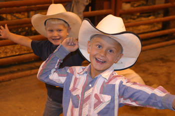 Kelton Turner, front, and Conner Blunt of Meeker enjoyed hanging out at the Rio Blanco County Fair.