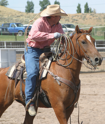 Hank Allred of Rangely competed in last years Septemberfest rodeo. He and his brother Wade Allred again organized this years rodeo, which starts Friday night and resumes Saturday morning.