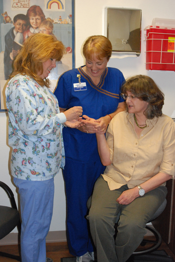 """Rangely Family Medicine clinic manager Lois Pittman said the new coagulation program is """"easier, less costly and more convenient."""""""