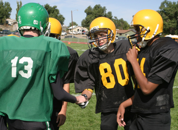 County's junior high FB teams play it close