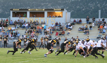 Everyone on the Cowboys' defense was one step ahead and all moving in the same direction during the season opener against the 3A Basalt Longhorns, last Friday in Starbuck Stadium. Meeker's defense
