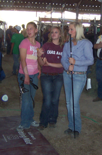 Representatives of Rio Blanco County at the state fair included from left, Taylor Neilson and Morgan Neilson of Meeker and Hillary Hayes of Rangely.