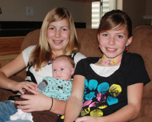 Bradee Ann Seely and her sisters