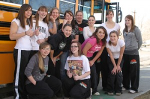Members of Rangely's girls' basketball team departed March 4 for the regional tournament in Durango. The Lady Panthers had their season come to an end with a first-round loss to Lutheran Parker, 44-38.
