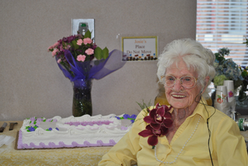 Merle Brenton, a resident at the Walbridge Wing in Meeker, celebrated her 100th birthday with a party Saturday. She turned 100 Monday.