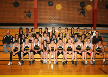 Members of the Meeker High School boys' and girls' track teams. Qualifiers for the state meet will compete this week.