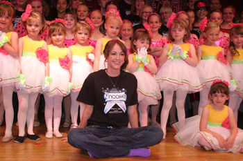 Kari Jo Stevens with some of her dance students.