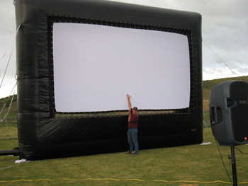 "The Meeker Recreation and Park District unveiled its new outdoor screen for the first time June 11 during the ""Movies Under the Stars"" series. July 9 is the next outdoor movie, at dusk on the softball field at Paintbrush Park."
