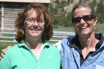 Sisters Mary Cunningham, right, and Ellen Nieslanik will work together during a transition period as Ellen steps down as director of the Meeker Classic and Mary takes over.