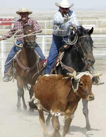 FILE PHOTO Hank and Wade Allred are the organizers of the Septemberfest rodeo, which will start at 5 p.m. Saturday at Columbine Park.