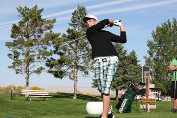 Above: Meeker's Trey Morris shot an 85 at regionals Tuesday at Montrose. He qualified for the state tournament at Eaton on Oct. 4 and 5. He was also named second-team all-conference this week. Morris placed first last Friday with a score of 80 at a three-team tournament at Rangely's Cedar Ridges Golf Course. JJ Wyatt shot a 94, Hunter Fellows 101, Dalton Rholl 105, Adrian Shoyer 121, Ty Shepard 125 and John Mack Sheridan 133. The Cowboys had a team score of 276. Morris, Wyatt, Fellows and Rholl advanced to Tuesday's regional. At left: Rangely finished second in its tournament with a team score of 332. The Panthers were led by Caleb Templeton, who shot his best score of the season, a 93.
