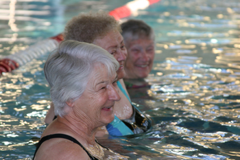 "JEFF BURKHEAD Senior adults exercised in the pool Oct. 1 at Meeker Recreation Center. ""I've seen great benefits the water has done for people,"" said aquatic fitness instructor Layne Pearce."