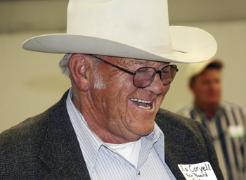 Ed Coryell wears many hats, including president of the Rio Blanco County Fair Board. He attended a groundbreaking Oct. 11 for a new 4-H building at the fairgrounds.
