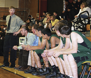 "Rangely boys' basketball head coach Eric Hejl and his young Panther team found the competition ""tough"" in the Cowboy Shootout last week, as the team went 0-3."