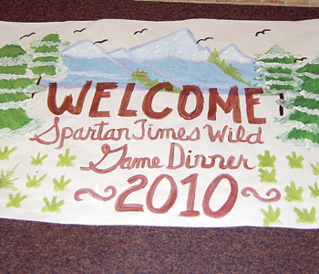 The Spartan Times staff is hoping the community supports its wild game dinner Feb. 5, as they did last year for the first annual benefit dinner. Funds raised will be used to attend the Associated Collegiate Press National Convention in Hollywood, Calif., this coming March.