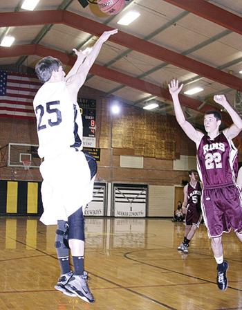 Back from injury, Meeker senior Trevor Matrisciano scored seven points against Paonia.