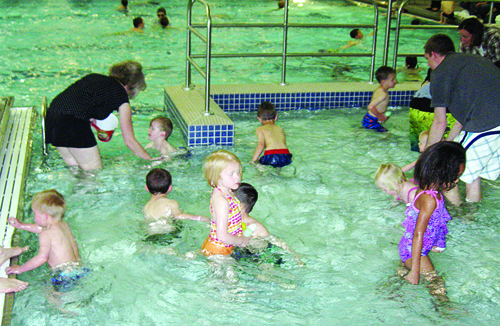 In addition to Easter egg hunts sponsored by the Meeker Lions Club and the Rangely Elks Lodge, more than 50 kids also hunted for Easter eggs underwater at the WRBM Recreation and Parks District recreation center last Saturday.