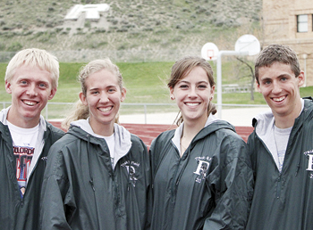 Matt Scoggins The Rangely Panthers qualified four athletes for the 2011 Colorado State Track and Field Championship, starting today in Denver. Sophomore William Scoggins will be running the 3200, senior Marie Morton will be competing both in the shot put and discus, senior Victoria Phelan will be competing in the triple jump and freshmen Andrew Morton will in the high jump. Events begin this Thursday and conclude on Saturday.