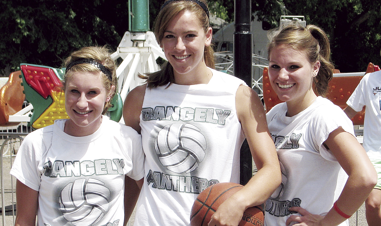 Rangely's Audrey Hogan, Victoria Phelan and Kelsey Harvey came Meeker to compete in the first annual 3 on 3 basketball tournament which was organized by Meeker Chamber of Commerce intern Marki Cook.
