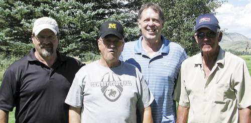 bobby gutierrez Norbert Boes stands next to Meeker High School's new football coach Ron Dupree. Boes teamed up with Dr. James Jex and Gary Stewart to win the annual Kickoff Classic golf scramble at the Meeker Golf Course with a six-under par 62. Football practice started Monday, Aug. 15.