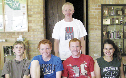 bobby gutierrez Running for the Rangely Panther cross country team this year are Mitchell Webber, Tanner and Dale Nielsen, Alexis Silva-McKay and William Scoggins (standing). Scoggins and the Nielsen twins qualified for the state meet last year and hope to do it again this year. Not pictured are Tessa Slagle, Marshall Way and Ethan Allred.