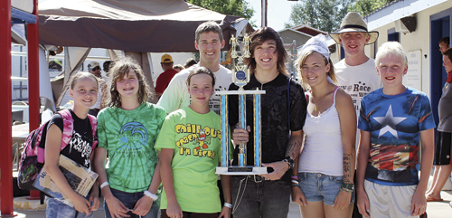 matt scoggins For a fourth year in a row, the Rangely Hurricanes won the state championship meet held in Craig. Members of the team were Makenze Cochrane, Geli Brown, Korrynn Wenzel, Andrew Morton, Justin Prosser (with trophy), Kelsey Prosser, Andrew and Patrick Scoggins.
