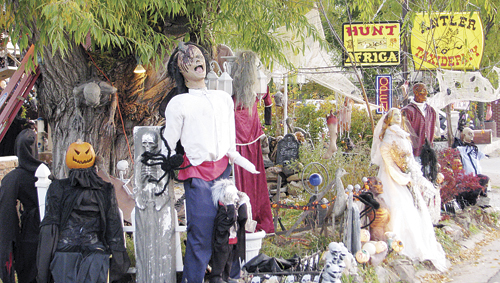 Antler Taxidermys annual Halloween display, Headhunters Haunted House, is in full swing. Bill and Donna Wille prepare treat bags for 400-500 kids who come by on Halloween night. This year they are setting out a donation box to go toward the Wounded Warrior project and soldiers care packages, causes the Willes are very involved in. Come for a treat, give a gift to a soldier in need.