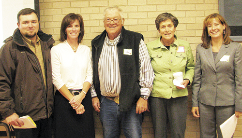 Kurt Blunt, Mindy Burke, Ed Coryell, Mary Strang and Marnell Bradfield, all candidates for three seats on the Meeker Board of Education, participated in a forum, sponsored by the Meeker Education Association and the school district's accountability committee. Burke, Coryell and Strang are incumbents.
