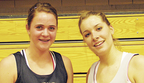 Meeker seniors Kathryn Doll and Aubrey Walsh will lead the lady Cowboys when they open the season on their home court tonight against Crested Butte in the WREA Cowboy Shootout.