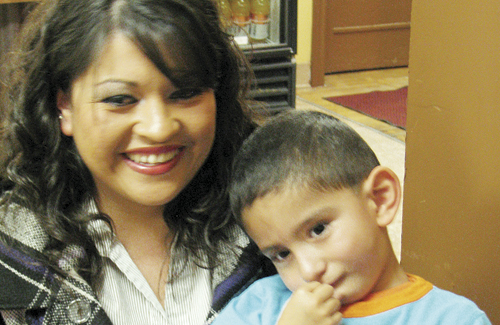 "A Horizons' ""success story,"" Misael Rosas, 3, and his mother Susana are grateful for the services Misael received at Horizons in Meeker. Misael started preschool this fall after receiving speech and motor skills therapy through Horizons since infancy. This month Horizons is promoting the Little Points of Light fundraising campaign for its early intervention program, which provides free screenings for all children from birth to age 5 to identify developmental delays that can be addressed through therapy."