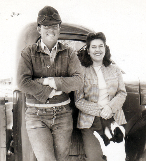 Byron and Jo Linden on their Meeker area ranch.