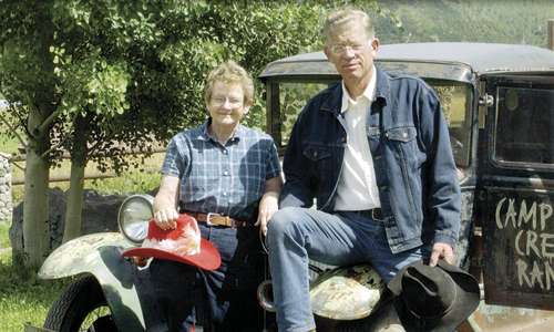 June and Bud Striegel have owned the Campbell Creek Ranch northeast of Meeker since 1993. Since then, more than 100 weddings have taken place at the site, for the price of a wedding invitation, a photo, and fish food for the pond or a tree to plant. It's just one example among many of the Streigel's continuing generosity, kindness and philanthropy.