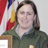 Tamara Naumann, Dinosaur National Monument botanist, received a Superior Service award.