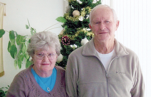 Joe and Evalyn Carstens have been married 57 years.