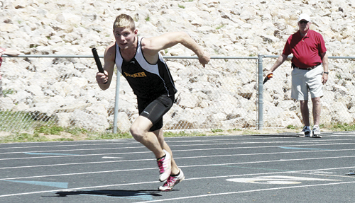 Meeker sophomore Sebastian Clarke improved his long jump by more than a foot in Rifle last Friday and senior Kathryn Doll won the triple jump.