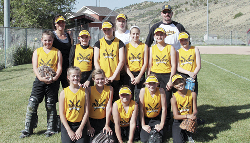Meeker girls' 10-12 fast-pitch softball team