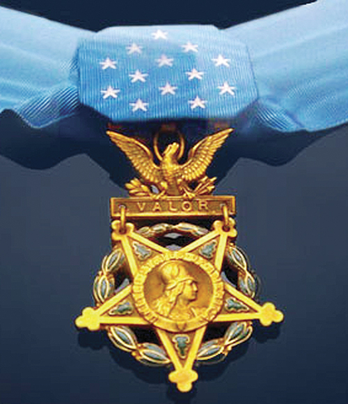 The Medal of Honor is the highest military decoration awarded by the United States government.