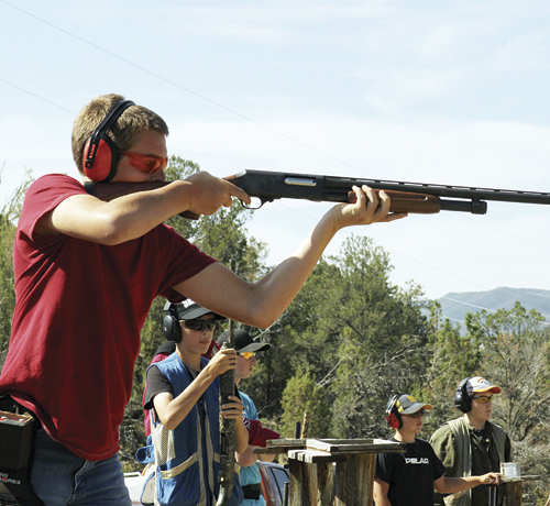 Ty Dunham won the Intermediate Shotgun 4-H Shooting Sports competition last Saturday at the Meeker Sportsman's Club.