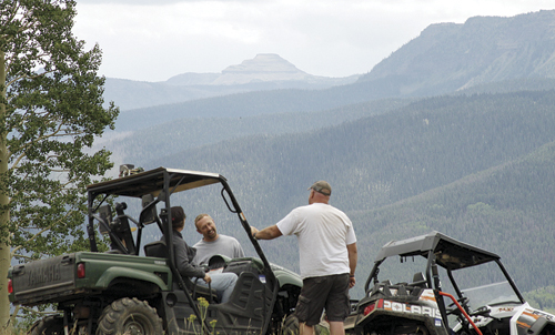 Forty riders participated in the first annual OHV Poker Run, sponsored by the Meeker High School wrestling team.