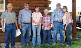 The Moyer family, including Don, Larry, Beverly, Merle Dean, Dick and niece Jewell Kindler, shared their family's amazing history of homesteading 160 acres on Lime Kiln.