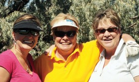 Meeker golfers Danielle Feola, Susie Sprod and Debbie Jordan did their part to keep the Rio Blanco County Cup in Meeker, beating Rangely golfers Linda Gordon, Lielanie Morgan and Teresa Brodrick in scrambles last weekend.
