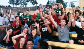 CNCC students in the stands at Rangely High School supporting the football team during this years homecoming game.