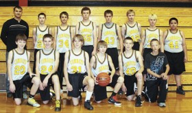 BMS boys' eighth grade basketball team.