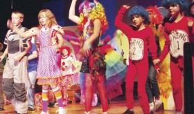 Cast members of the musical Seussical Jr. dance during a recent dress rehearsal before their upcoming performances Friday and Saturday. More than 50 young thespians have been rehearsing since August for Fridays performance at 6 p.m. And Saturdays performance at 3 p.m., both in the Meeker High School Auditorium.