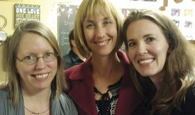 Elizabeth Robinson Wiley, Heather Zadra, and Natosha Clatterbaugh visit during the reception at Cuppa Joe at Wendll's. Wiley and Zadra have sons who received speech therapy through Horizons.