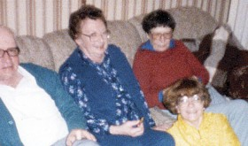 Norine was dedicated to her career as a teacher, she also enjoyed spending time with her family as pictured here with her brother Bud, sister-in-law Maxine and their daughter Kathy (seated).