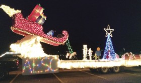 Winners of Saturday night's Christmasfest Parade of Lights were Alliance Energy Service Company, Blue Mountain Inn and Future Farmers of America. The RE-4 school bus placed second.