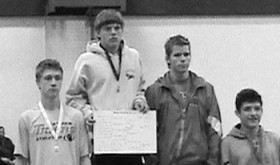 Rangely junior Lucas Heinle won a gold medal at the Soroco Invitational last Saturday in Oak Creek. Heinle won the 152-pound bracket and he and his team will wrestle in Kremmling this Saturday.